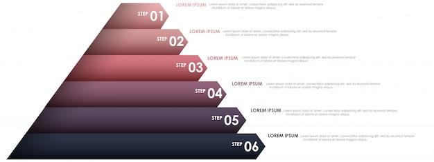 Infográfico de triângulo para projeto de negócios