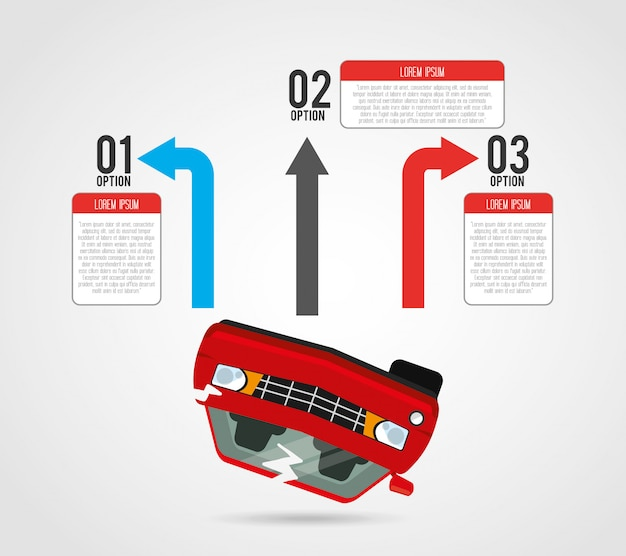 Infográfico de veículo