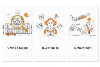 Infográfico de web de viagens. Planeje suas férias