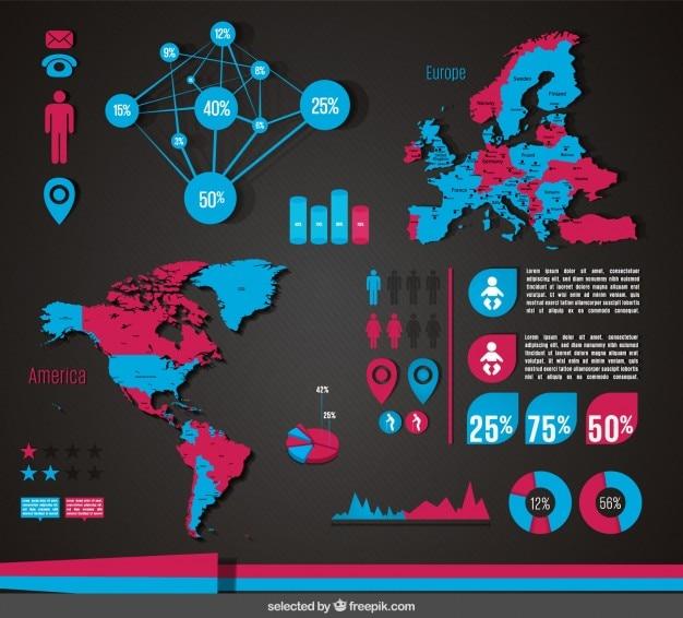 Infográfico demográfico moderno