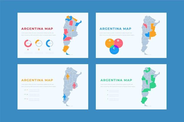 Infográfico desenhado à mão do mapa da argentina