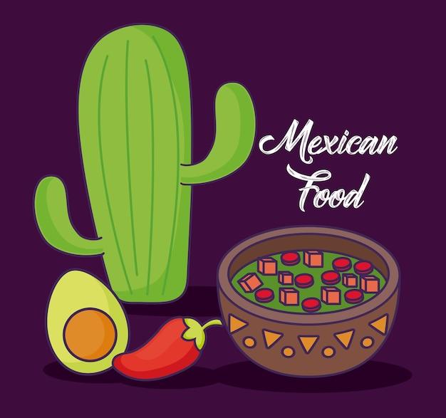 Infográfico design de comida mexicana com ícones relacionados