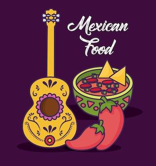 Infográfico design de comida mexicana