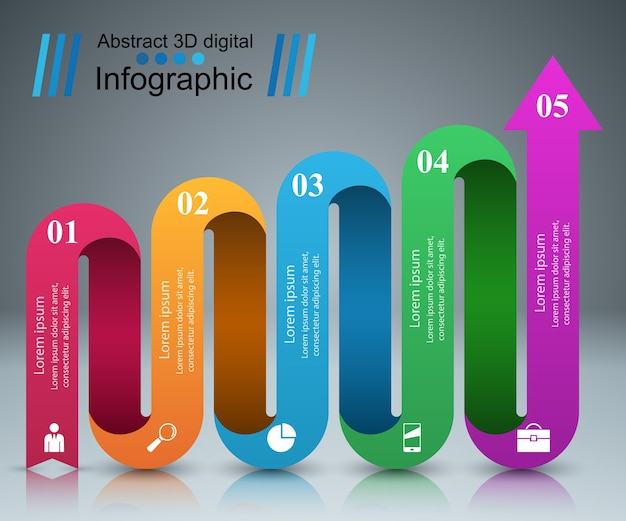 Infográfico design modelo e marketing ícones.