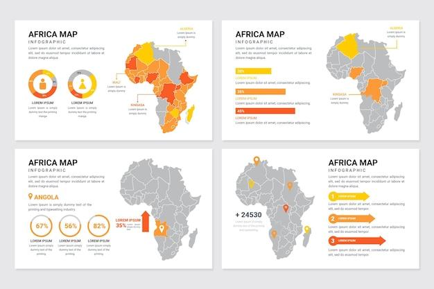 Infográfico do mapa da áfrica plana