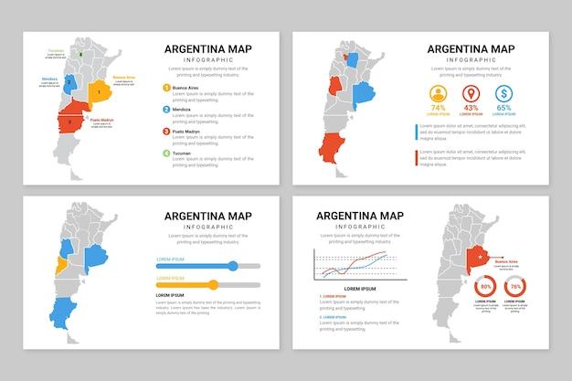 Infográfico do mapa da argentina
