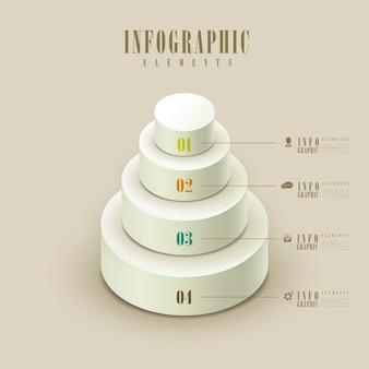 Infográfico elegante com elementos gráficos de bolo