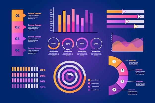 Infográfico elemento coleção design plano