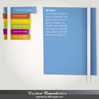 Infográfico em forma de marcador