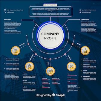 Infográfico empresarial moderno com foto