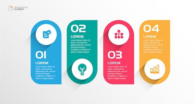 Infográfico empresarial moderno