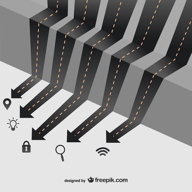 Infográfico estradas negócio