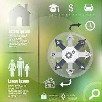 Infográfico fundo, modelo para o design do diagrama