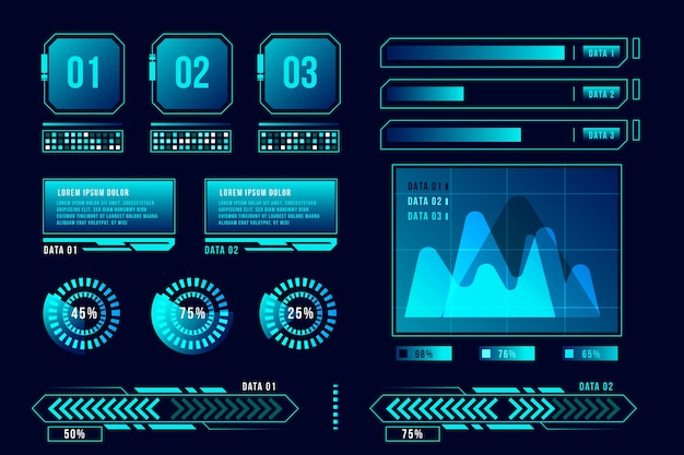 Infográfico futurista conceito