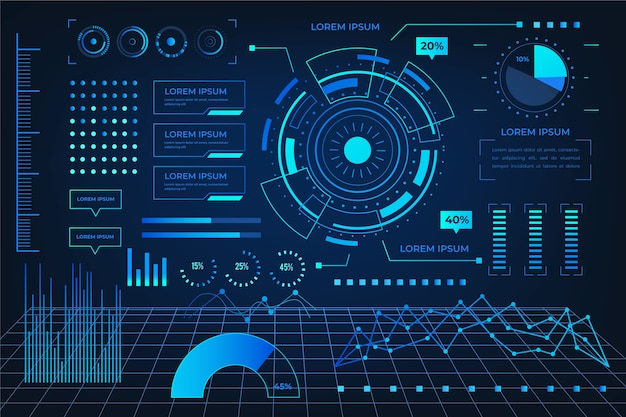 Infográfico futurista de tecnologia