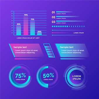 Infográfico futurista