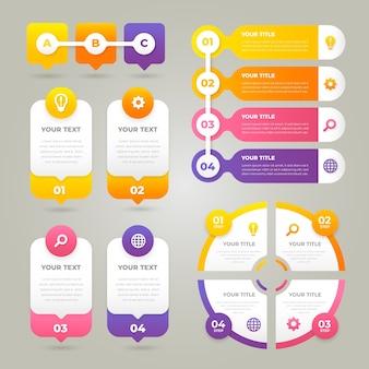 Infográfico gradiente de negócios