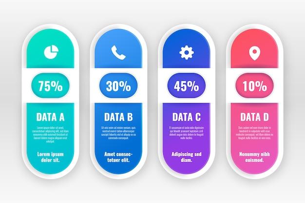 Infográfico gradiente