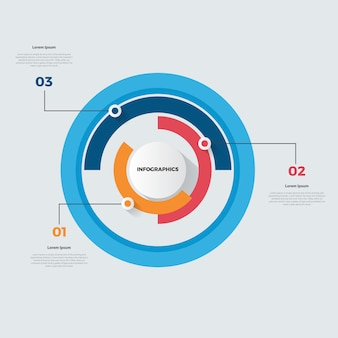 Infográfico gráfico de pizza tempo linha ilustração