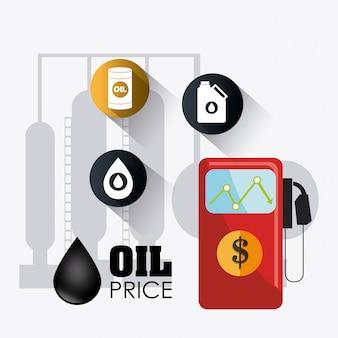 Infográfico industrial de petróleo e óleo