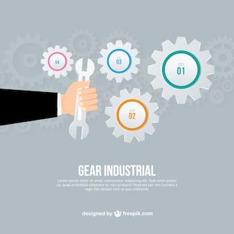 Infográfico industrial engrenagem