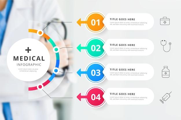 Infográfico médico com conceito de foto