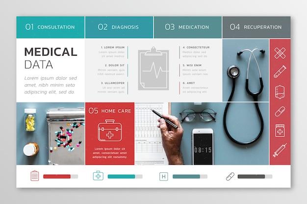 Infográfico médico com imagem