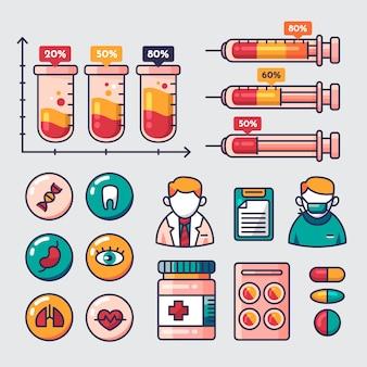 Infográfico médico com informações