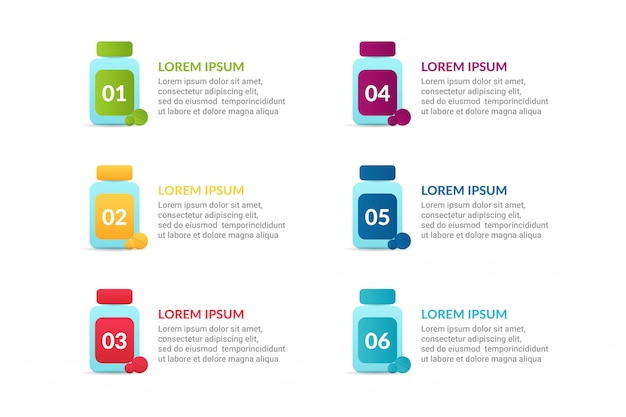 Infográfico médico com opções ou lista