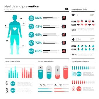 Infográfico médico de saúde