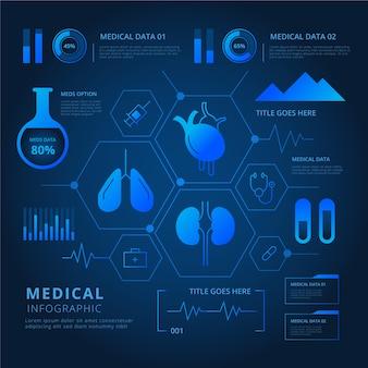 Infográfico médico tecnologia futurista