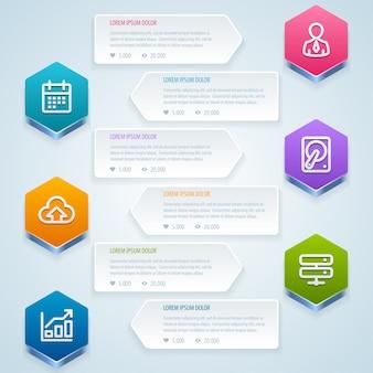 Infográfico. modelo de design do banner.