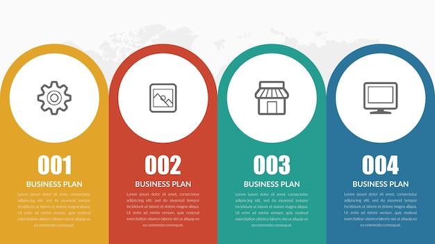 Infográfico modelo de marketing de negócios com ícones