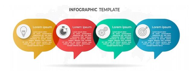 Infográfico moderno 4 opções.