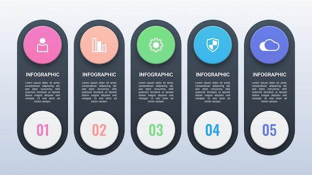 Infográfico moderno com opções