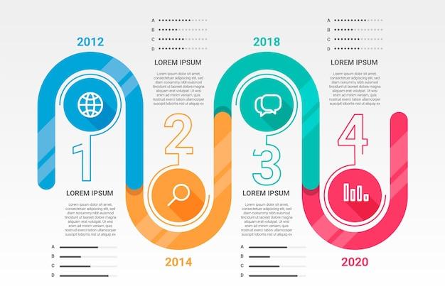 Infográfico moderno cronograma