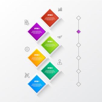 Infográfico moderno de cor com tabela 3d