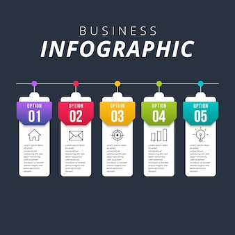 Infográfico moderno de negócios