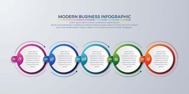 Infográfico moderno de passos