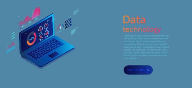 Infográfico moderno de telas de computador