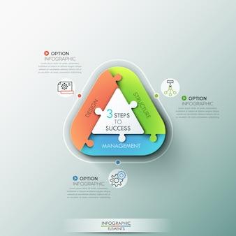 Infográfico moderno faixa de opções.