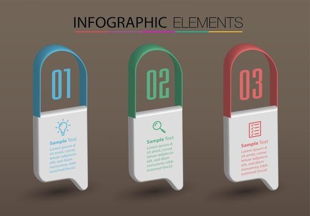 Infográfico moderno infográfico modelo de caixa de texto banner