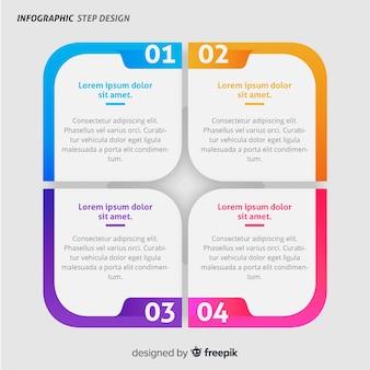 Infográfico moderno modelo com estilo colorido