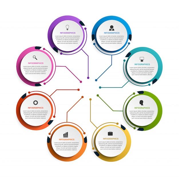 Infográfico moderno modelo para apresentações.