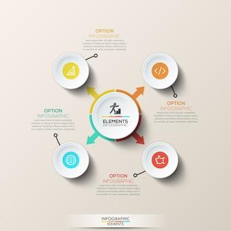 Infográfico moderno modelo