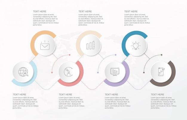 Infográfico moderno para o conceito de negócio.