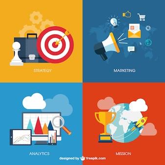 Infográfico negócios com ícones
