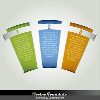 Infográfico opções em forma de leque mão
