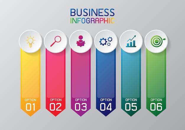 Infográfico ou elemento gráfico de informação para os negócios