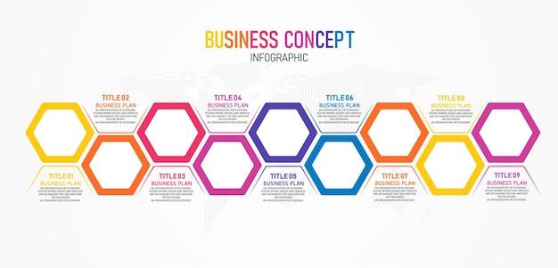 Infográfico para apresentação de negócios